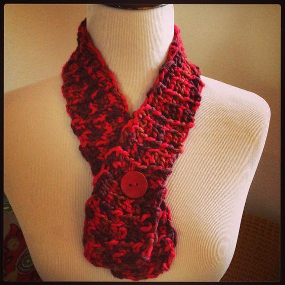 Berry Warm Scarf Collar on Etsy, $20.00