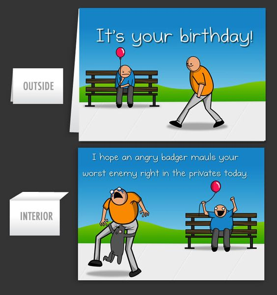 Birthday Badger - Greeting Card #5 - The Oatmeal