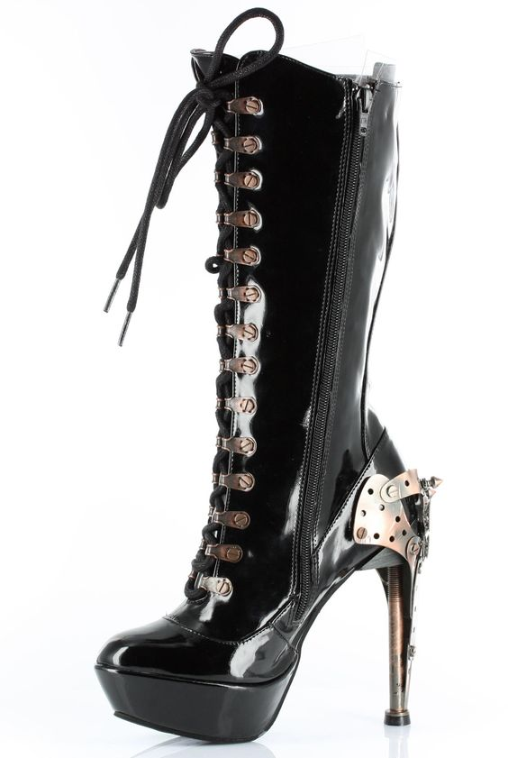 Hades Shoes Boots - Zeppelin - Metal Goth Cyber Steam - Salient Seven