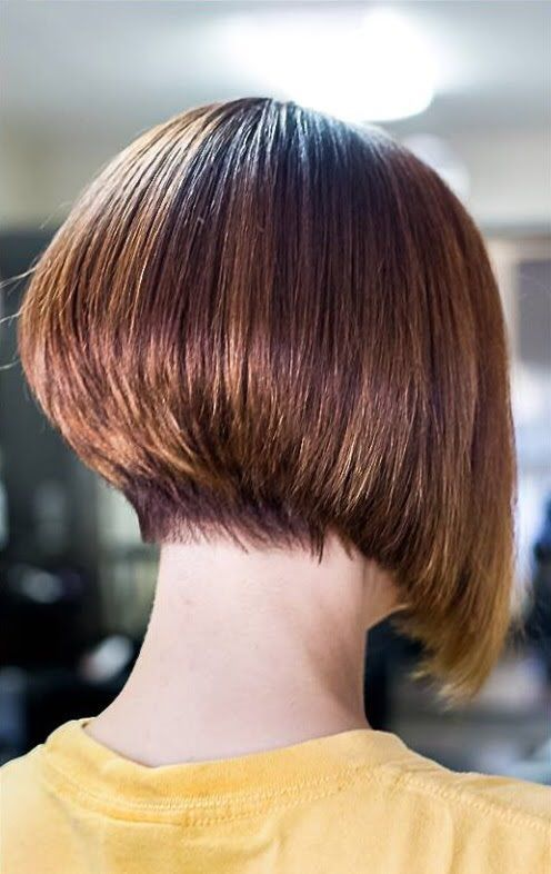 Bob Haircut with one side longer than the other