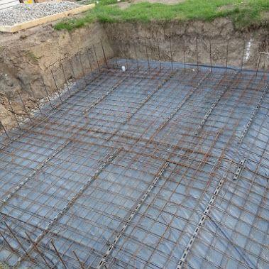 Travaux ma onnerie piscine beton masonry pinterest for Travaux piscine