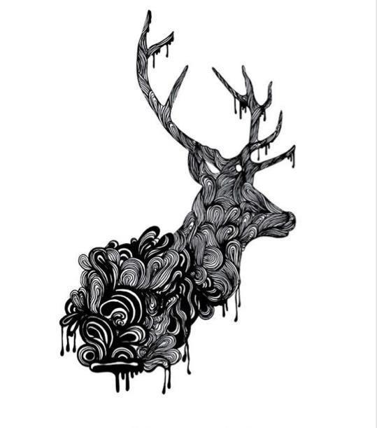 dessin de cerf oh deer cerfor t pinterest. Black Bedroom Furniture Sets. Home Design Ideas