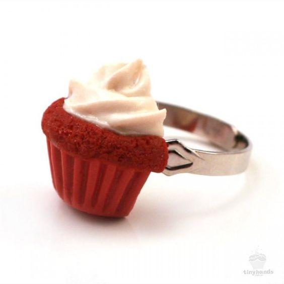 Scented Red Velvet Cupcake Ring