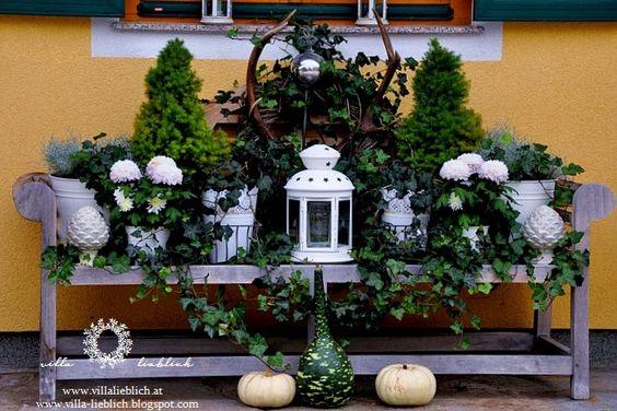 Herbstdeko Herbstdeko  Farmhouse  Pinterest  Villas