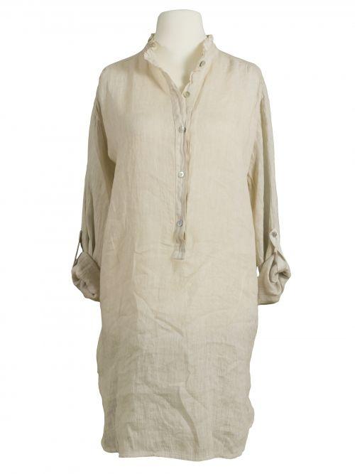 Damen Leinen Tunika Bluse, beige von Miho's bei www.meinkleidchen.de