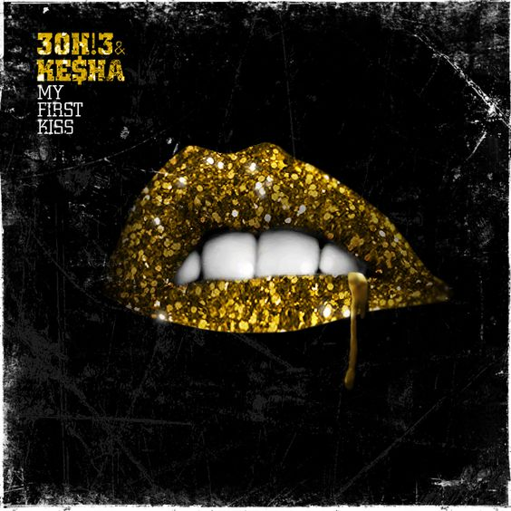 3OH!3, Kesha – My First Kiss (single cover art)
