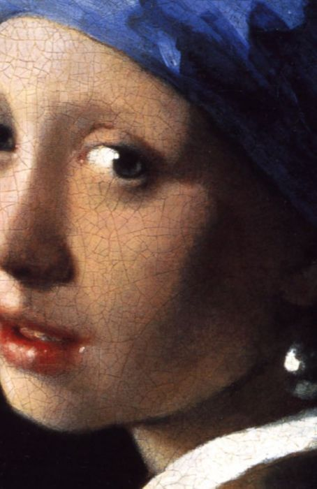girl with the pearl earring  close up  detail  dutch painter    girl   the pearl earring  close up  detail  dutch painter johannes vermeer    s