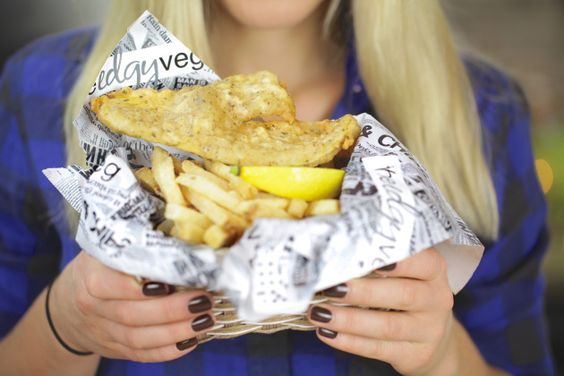 Vegan Fish and Chips recipe.  Deep fried, so may never make this, but I'm curious about it so am pinning.