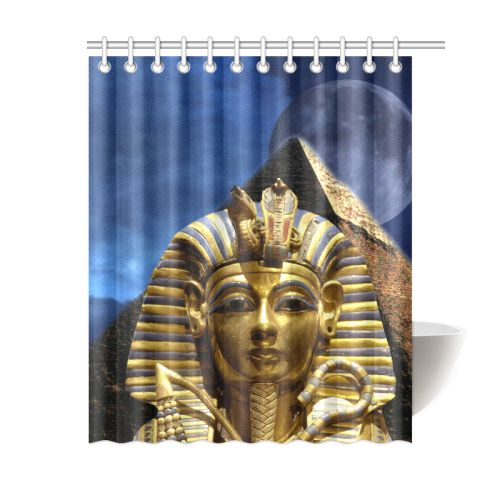 "King Tut and Pyramid Shower Curtain 60""x72"". FREE Shipping. FREE Returns."