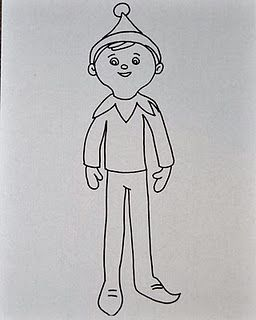 elves coloring pages and elf on the shelf on pinterest