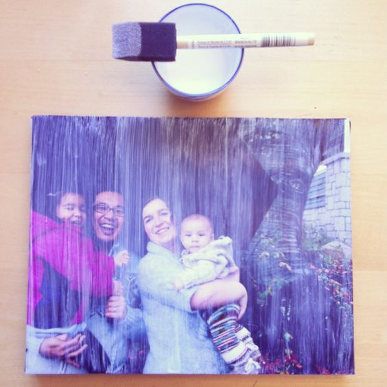 Mounting photo to canvas tutorial A great handmade gift for under $5.00 11