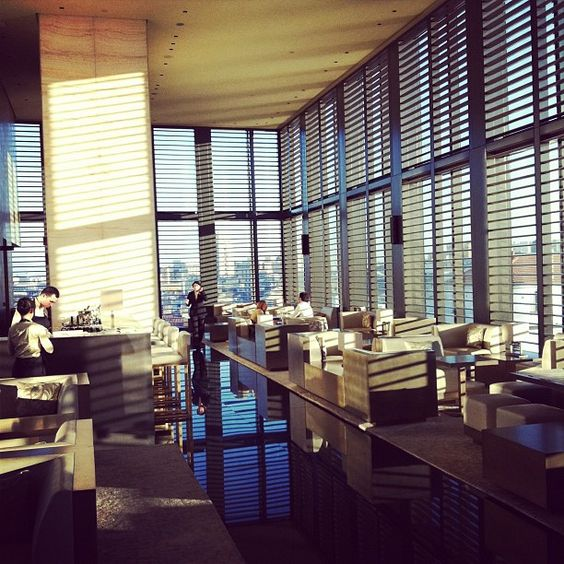 "Grazia:""We are in LOVE with the bar at the Armani Hotel in Milan, amazing views of Milan#mfw"