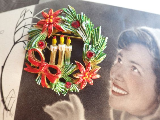 Vintage Broschen - 3. Advent - Vintage Brosche Weihnachten - ein Designerstück…