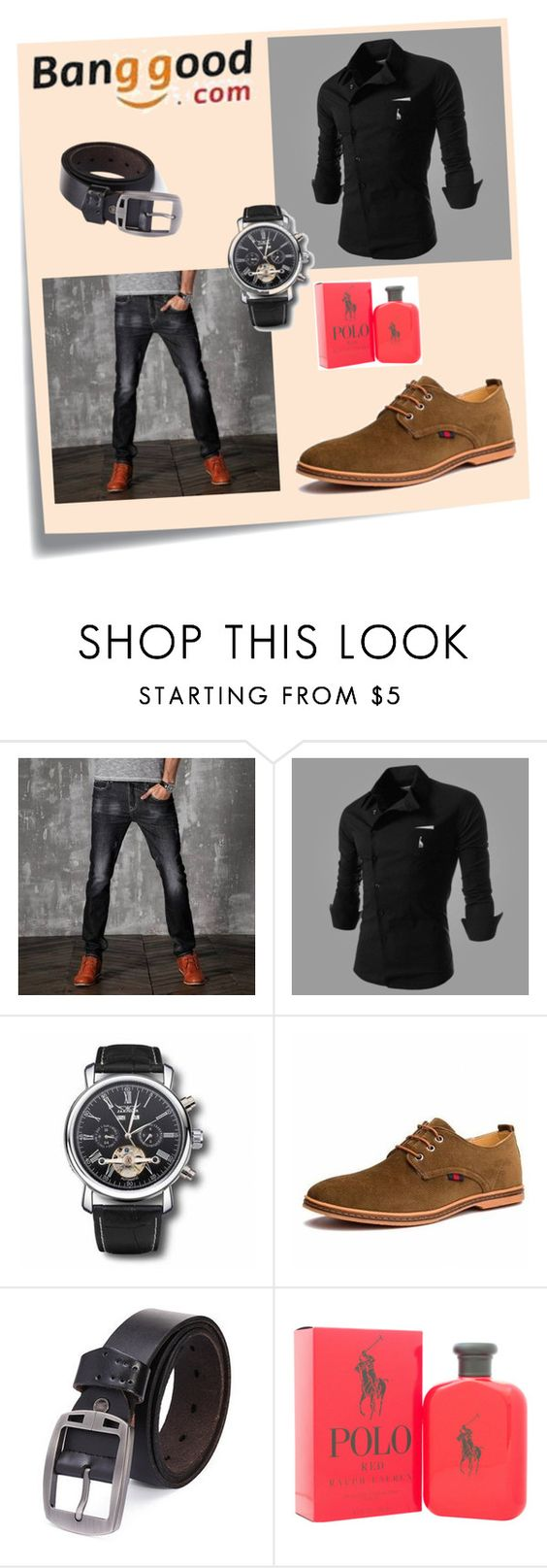 """""""Banggood II/2"""" by a-camdzic ❤ liked on Polyvore featuring Post-It, Ralph Lauren, men's fashion and menswear"""