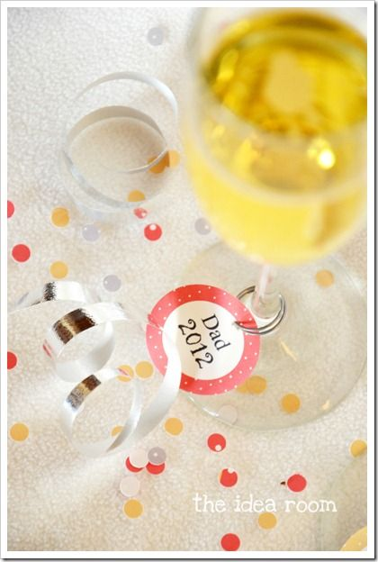 Printable New Years Eve 2012 Drink Name Tags