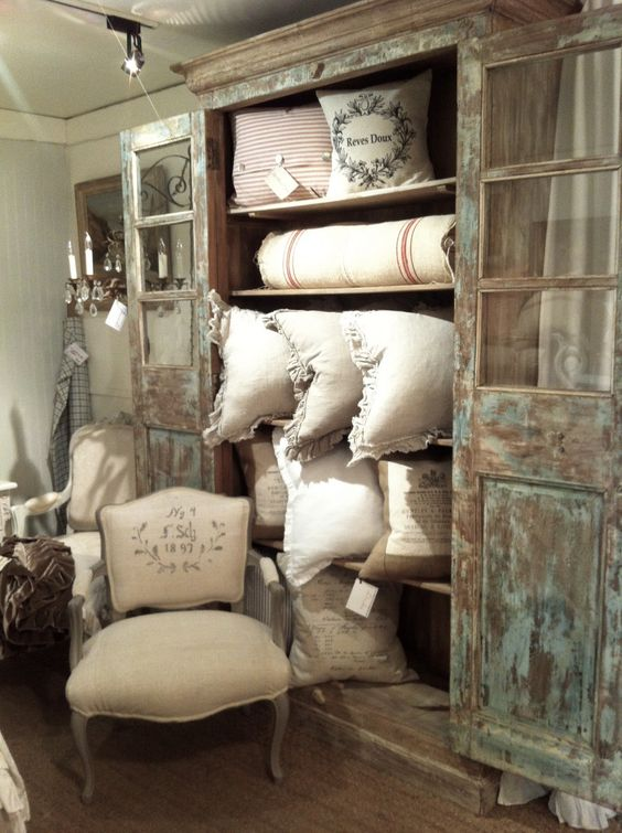 A great place to get French fabric, gunny sack, linen and they will make an…