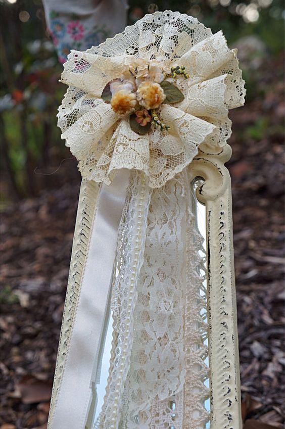 Cream Lace Romantic Brooch от CarolinesOriginals на Etsy