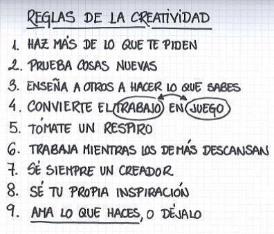 Reglas creatividad