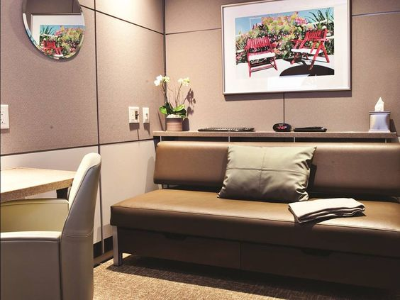 Travelers wanting to nap between flights can rent a room at Minute Suites in Hartsfield-Jackson Atlanta International Airport.