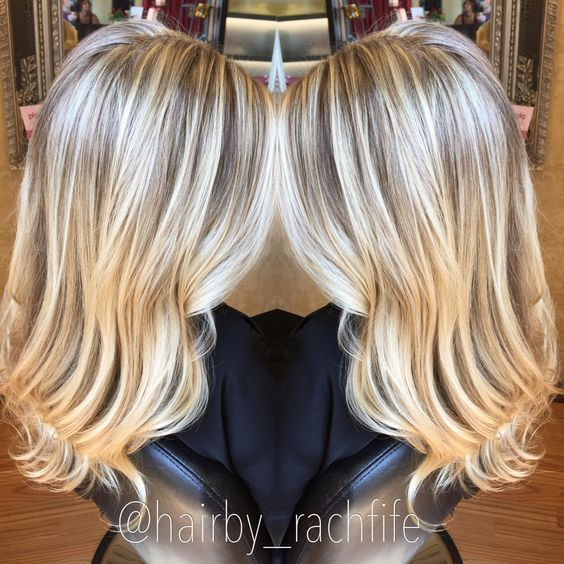 Bright blonde highlights using olaplex. hair by Rachel Fife @ SF Salon
