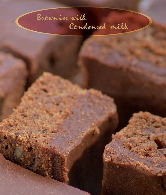 Brownies With Condensed Milk Elephants And The Coconut Trees In 2020 Sweetened Condensed Milk Recipes Milk Recipes Indian Dessert Recipes