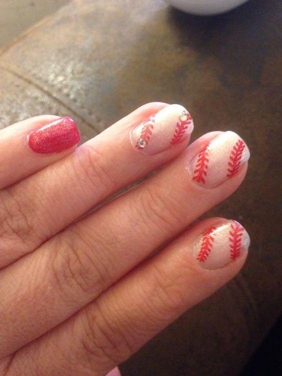 Baseball nail decals super cute more nail decals baseball nails cricut