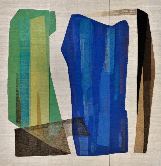 DORA JUNG, Gate to Saimaa (Saimaan Portti), woven tapestry, Finland 1965. Material woold on linen warp. © Kuvasto 2016, photo © Bank of Finland. / Kansankunnan Omaisuutta