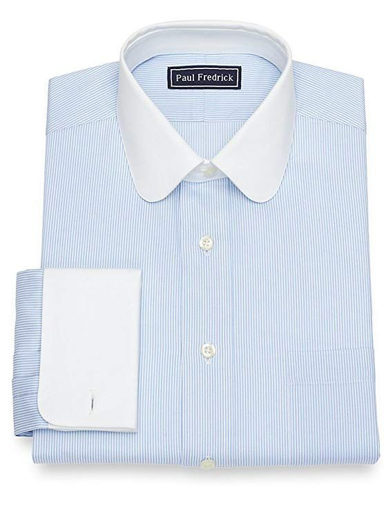 Vinateg Mens Dress Shirt The Club Collar Round 1920s Striped Dress Shirt At Vintagedancer Vintage Clothing Men Mens Shirt Dress Best Dress Shirts
