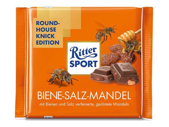 RITTER SPORT Fake Schokolade Sorte Biene-Salz-Mandel zum 75. Geburtstag von Chuck Norris