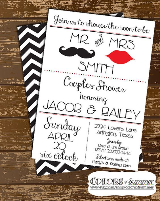 Wedding Invitation Thoughts: Couples Shower Invitations, Engagement And Thoughts On