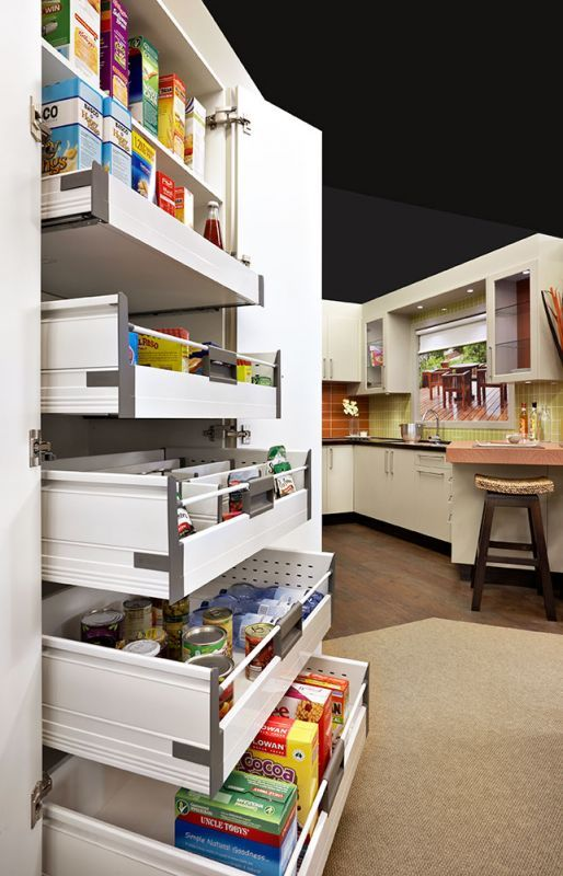 Slide Out Pantry Pantry And Shelves On Pinterest