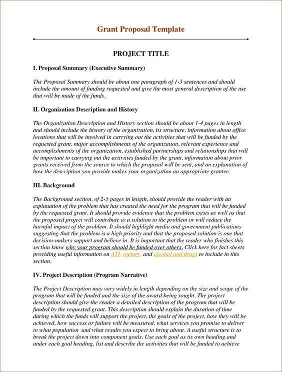 How to Write a Grant Proposal for a Non-Profit Organization - proposal template for sponsorship