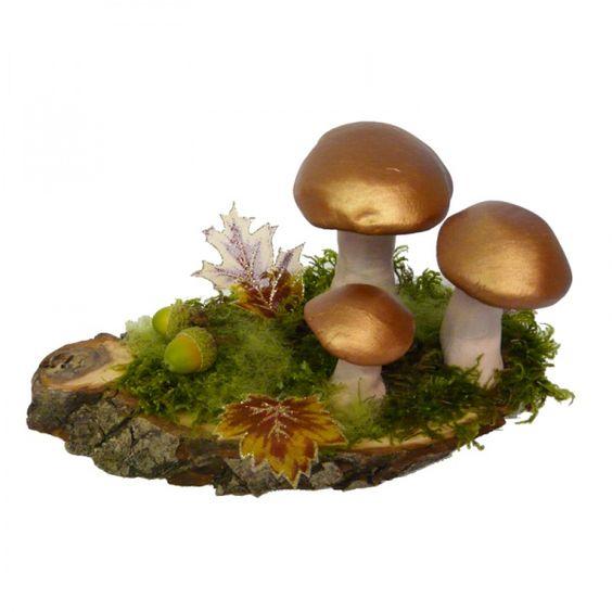#Pilze basteln, #Herbstdeko, mit Naturmaterialien und ein