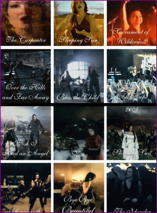 Nightwish 1997-2011 with Tarja and Anette compiled by The-Infallible-Empress on Tumblr