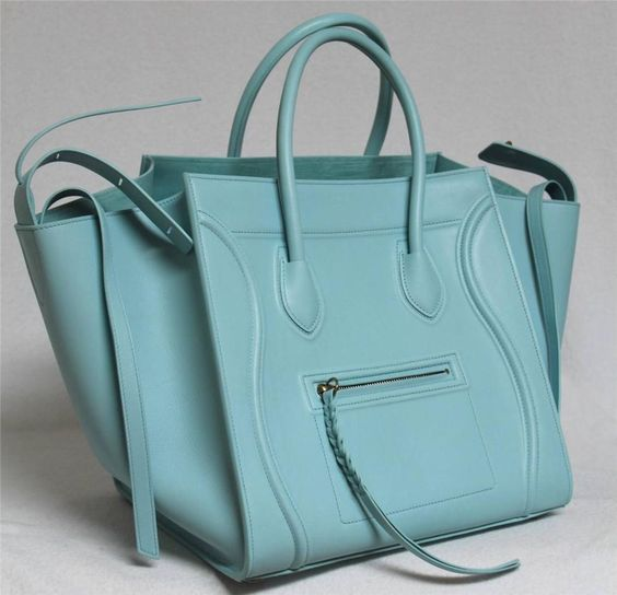 celine authentic purses - New Azure Runway Celine Phantom Luggage Smooth Leather Medium Tote ...