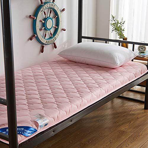 Msm Thick Cotton Mattress Quilted Floor Mat Soft Comfort Antibacterial Breathable Dormitory Futon Bed Roll Pink 90x190x5cm Mattress Futon Japanese Mattress