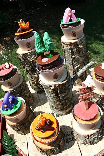 camping party treats!! and great camping party ideas