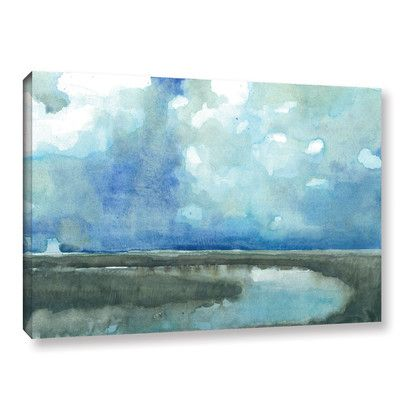 ArtWall 'Meandering Stream' by Norman Wyatt Jr Painting Print on Wrapped Canvas Size: