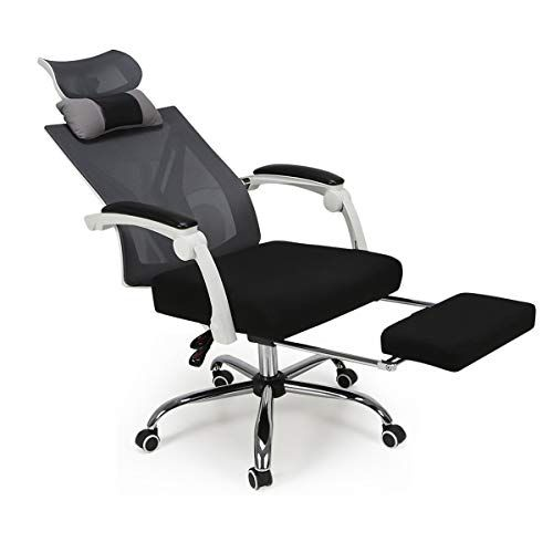 Hbada Recliner Mesh Office Computer Chair With Rotatable Headrest
