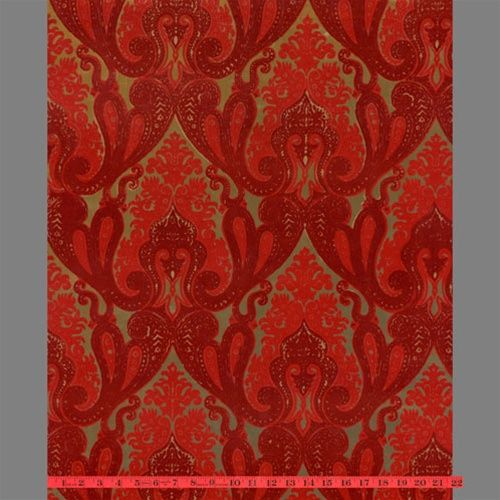 red flocked bordello-esque