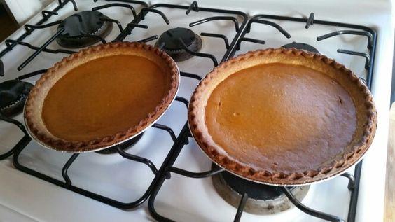 Freshly baked pumpkin pies....yummy