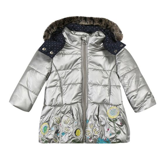 Catimini - Toddler Girl Silver Padded Coat | Catimini Products
