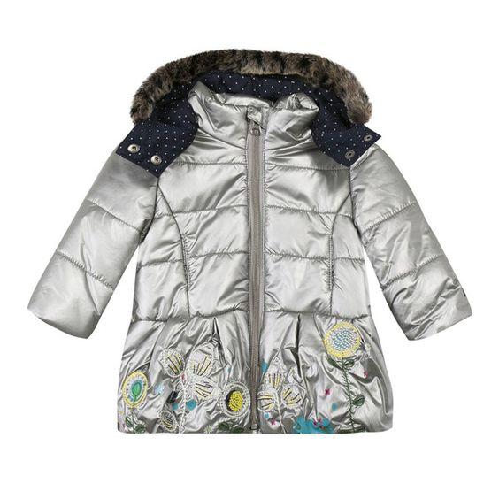 Catimini - Toddler Girl Silver Padded Coat | Catimini Products