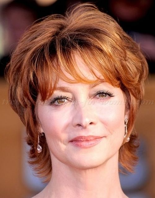 Hairstyles For Short Wavy Hair Over 60 Hairstyles Hairstylesforshorthair Short Short Hair With Layers Short Hairstyles Over 50 Thick Hair Styles