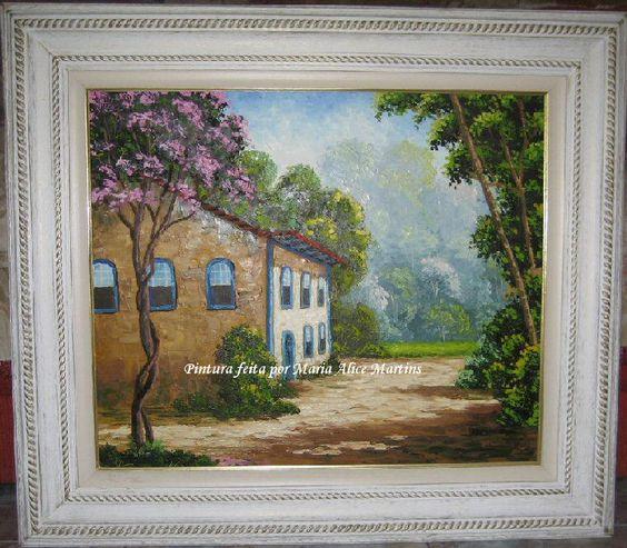 Pintura em tela - Casarão rural