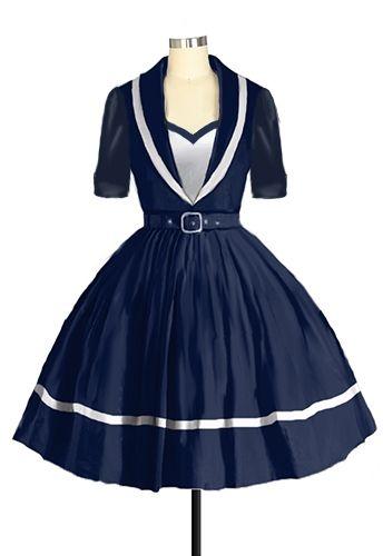 1950s Sailor Dress Amber Middaugh