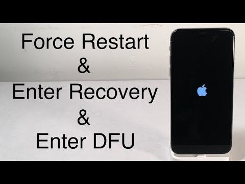 Iphone X Iphone 8 How To Force Restart Enter Recovery Mode