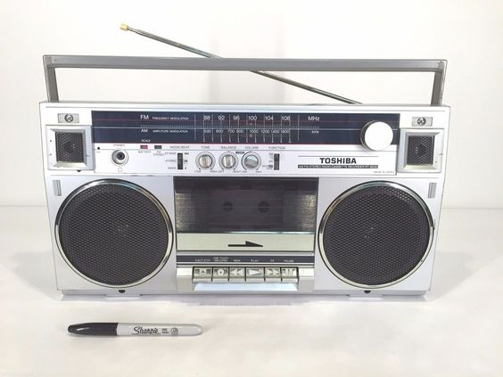 RARE Vtg 80's TOSHIBA RT-6035 Boom Box Ghetto Blaster AM/FM Cassette Tape RADIO #Toshiba