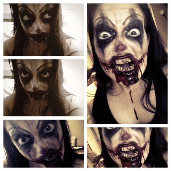 Evil clown character makeup | Makeup I love | Pinterest ...