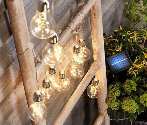 Led Solar Lichterkette Filament Online Bestellen Bei Tchibo 356031 Solar Lichterkette Lichterkette Lichterkette Balkon